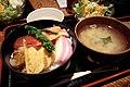 Chirashizushi set by yoppy in Shibuya, Tokyo.jpg