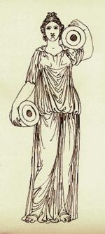 Illustrazione del chitone ionico.