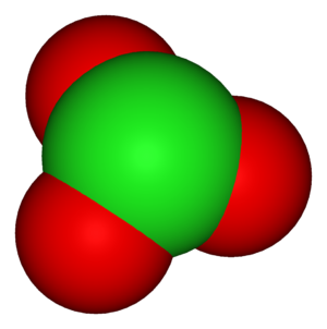 Polyatomic ion - The chlorate ion