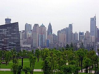 Business district of Chongqing, China