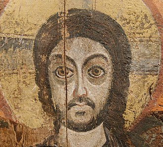 Oriental Orthodoxy - Image: Christ and the Abbot Menas Louvre E11565 n 02