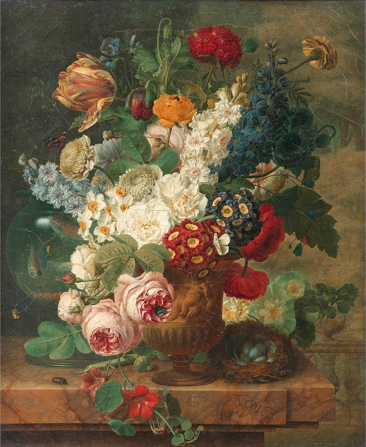 Christiaan van pol wikipedia for Bouquet de fleurs wiki
