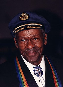 Chuck Berry wearing the Kennedy Center Honors, 2000 Chuck Berry 2000.jpg