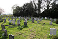 Church of St Thomas, Upshire, Essex, England - graveyard at west.jpg