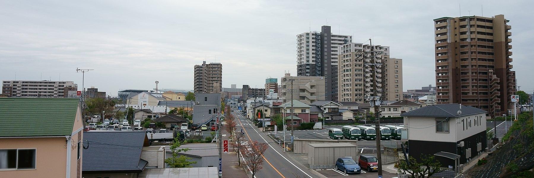 Cityscape around Tosu station 2017.jpg