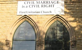 Unitarian Universalism - Image: Civil marriage is a civil right