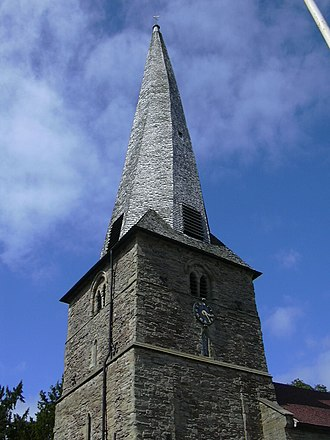 Cleobury Mortimer - The crooked spire on St Mary's church