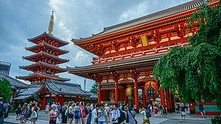 Sensō-ji Buddhist temple in Tokyo, Japan