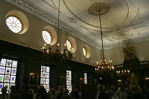 Apothecaries' Hall, London - Great Hall interior