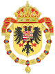 Coat of Arms of Charles I of Spain, Charles V as Holy Roman Emperor-Or shield variant (1530-1556).svg