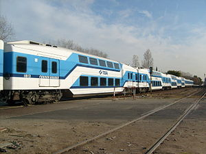 Trenes de Buenos Aires - Double decker carriages made by Emfer for TBA.