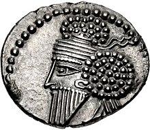 Munt van Osroes I (bijgesneden), Ecbatana mint.jpg