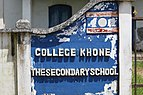 College Khone The secondary school text in 3D letters.jpg