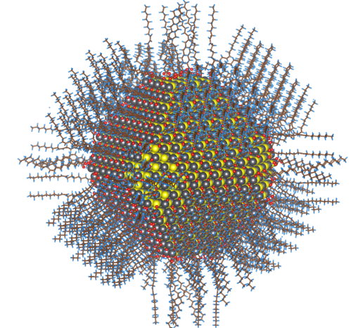 Colloidal nanoparticle of lead sulfide (selenide) with complete passivation