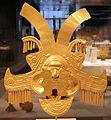 Colombia, yotoco (calima), ornamento per la testa, I-VII sec ca, oro sbalzato 01.JPG