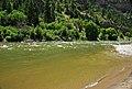 Colorado River (Grizzly Creek confluence, Glenwood Canyon, Colorado, USA) (19854302341).jpg