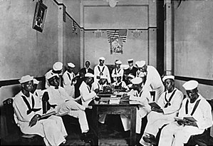 Racial segregation in the United States - Colored Sailors room in World War I