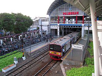 KA Commuter Line Tanah Abang–Rangkasbitung - Image: Commuterline at Palmerah Station 4
