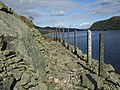 Concrete posts defining path by Haweswater - geograph.org.uk - 997472.jpg