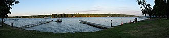 Conesus Lake - The east shore, seen from Long Point Park