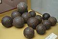 Conjunt de bales de ferro dels dos canons del castell de la Granadella, segle XVIII, Museu Soler Blasco, Xàbia.JPG