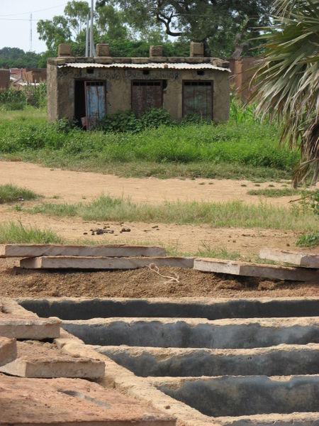 Pit Toilets Construction : File construction of a new pit latrine block