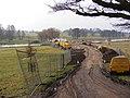 Construction of new bridge over the lake at Heveningham Hall - geograph.org.uk - 1168995.jpg