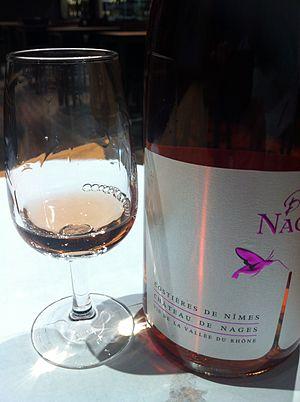 Costières de Nîmes AOC - A rosé wine from the Costières de Nîmes AOC.