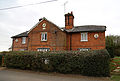 Cottages 90 yards south from St Mary's Church, Titley, Essex, England.jpg