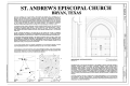 Cover Sheet - Saint Andrew's Episcopal Church, 217 West Twenty-Sixth Street, Bryan, Brazos County, TX HABS TX-3547 (sheet 1 of 13).png