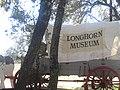 Covered wagon at Longhorn Museum in Pleasanton, TX IMG 2633.JPG