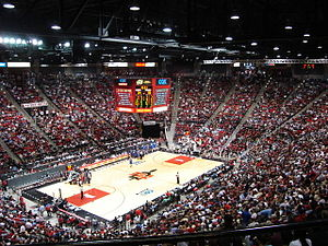 Aztecs inside Viejas Arena