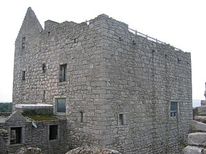 Craigmillar Castle - Upper part of the tower house