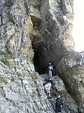 Cript Lake Trail Tunnel, Waterton Lakes NP - panoramio.jpg