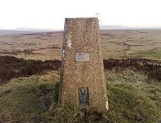 Crompton Moor - Image: Crompton Moor Trig Point (1)