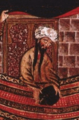 Cropped portion of Muhammad re-dedicating the Black Stone at the Kaaba.png