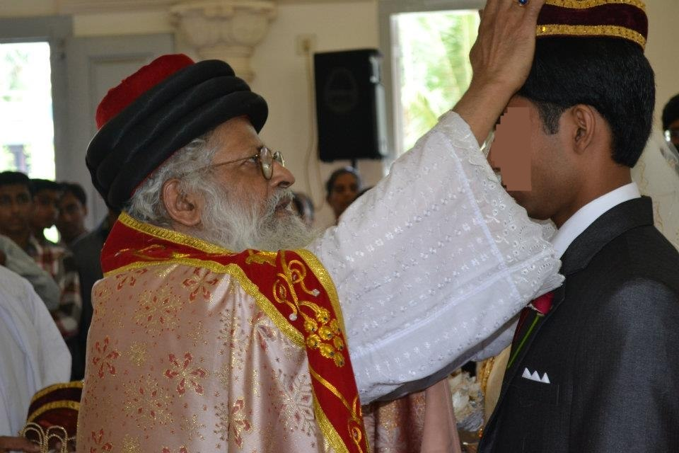 Crowning ceremony in Chaldean Syrian Church