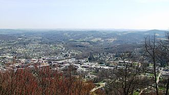 LaFollette, Tennessee - View of LaFollette from an overlook along the Cumberland Trail