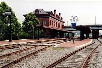 Western Maryland Railway - WM Cumberland Station, built 1913