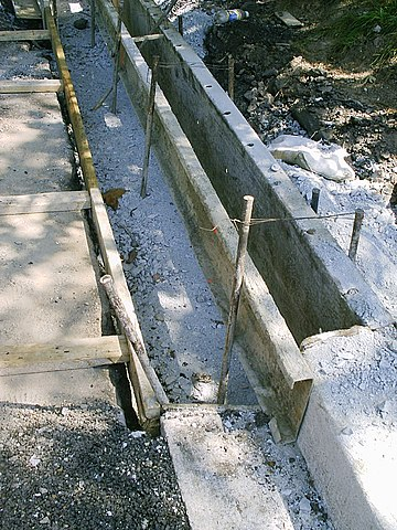 File Curb Metal Forms Under Construction Jpg Wikimedia