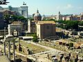Curia Julia and the Arch of Septimius Severus - panoramio.jpg