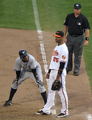 English: New York Yankees at Baltimore Orioles...