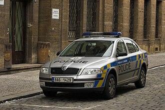 Police of the Czech Republic - Police Škoda Octavia car