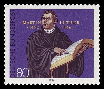 English: 500th day of birth of Martin Luther (...