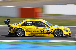David Coulthard in actie in de DTM, 2010