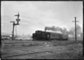 D class Clayton locomotive no. 1 stopped by a railway signal. ATLIB 292683.png