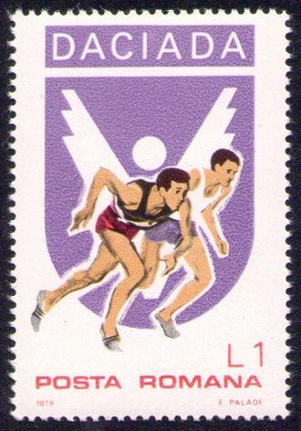 Daciad - 1978 stamp promoting the Daciad