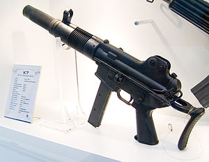 Daewoo K7 SMG at Defense Asia 2006 0.jpg