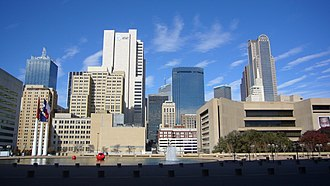 Government District, Dallas - View of the Government District from City Hall Plaza