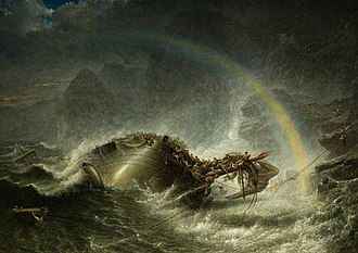 Francis Danby - The Shipwreck, oil on canvas, 1859.